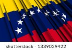 abstract flag of venezuela. 3d... | Shutterstock . vector #1339029422