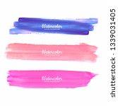 hand draw watercolor strokes... | Shutterstock .eps vector #1339031405