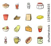 food images. background for... | Shutterstock .eps vector #1339036835