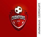 soccer football badge logo... | Shutterstock .eps vector #1339041695