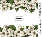 vector frame with jasmine... | Shutterstock .eps vector #1339056728