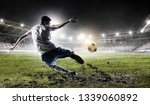 soccer player at stadium. mixed ... | Shutterstock . vector #1339060892