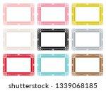 set of colorful antique frames. | Shutterstock .eps vector #1339068185