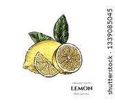 vector background with lemon .... | Shutterstock .eps vector #1339085045