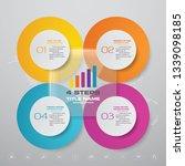 abstract 4 steps presentation... | Shutterstock .eps vector #1339098185