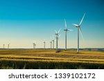 wind electricity generator in... | Shutterstock . vector #1339102172