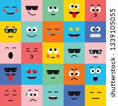 emoji vector icon  expression ... | Shutterstock .eps vector #1339105055