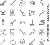 thin line icon set   job vector ... | Shutterstock .eps vector #1339106462
