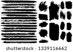 dry brush strokes. black... | Shutterstock .eps vector #1339116662