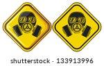 gas mask hazardous sign  | Shutterstock .eps vector #133913996