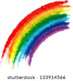 Art Rainbow Colors Brush Strok...
