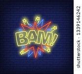 bam lettering neon sign. word...   Shutterstock .eps vector #1339146242
