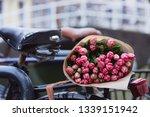bouquet of beautiful pink... | Shutterstock . vector #1339151942