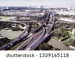aerial view massive highway... | Shutterstock . vector #1339165118