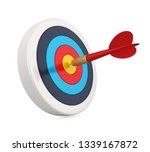arrow darts and target isolated....   Shutterstock . vector #1339167872