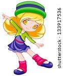 cute little girl | Shutterstock . vector #133917536
