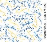 sweden   hand drawn lettering... | Shutterstock .eps vector #1339175822