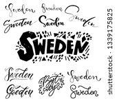 sweden   hand drawn lettering... | Shutterstock .eps vector #1339175825
