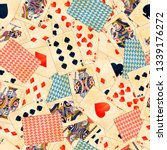 detailed colorful poker cards... | Shutterstock .eps vector #1339176272