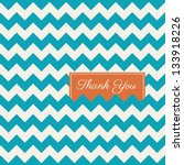 chevron seamless pattern background vector, thank you card | Shutterstock vector #133918226