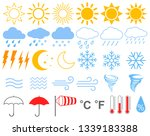 weather. collection of... | Shutterstock .eps vector #1339183388