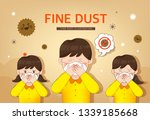 health care from fine dust | Shutterstock .eps vector #1339185668
