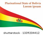 flag of bolivia  plurinational... | Shutterstock .eps vector #1339204412