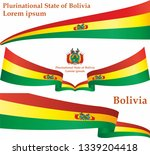 flag of bolivia  plurinational... | Shutterstock .eps vector #1339204418