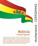 flag of bolivia  plurinational... | Shutterstock .eps vector #1339204442