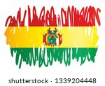 flag of bolivia  plurinational... | Shutterstock .eps vector #1339204448