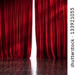 theater red curtains slightly...   Shutterstock . vector #133921055