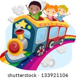 illustration of stickman kids... | Shutterstock .eps vector #133921106