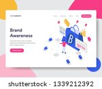 landing page template of brand... | Shutterstock .eps vector #1339212392