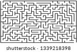 labyrinth of medium complexity. ... | Shutterstock .eps vector #1339218398