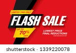 flash sale banner layout design ... | Shutterstock .eps vector #1339220078