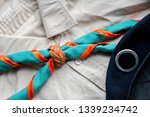 scout scarf and woggle .... | Shutterstock . vector #1339234742