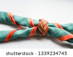 scout scarf and woggle .... | Shutterstock . vector #1339234745