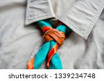 scout scarf and woggle .... | Shutterstock . vector #1339234748