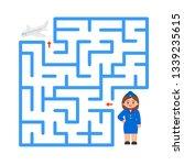maze game for children. help... | Shutterstock .eps vector #1339235615
