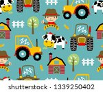 seamless pattern vector with... | Shutterstock .eps vector #1339250402