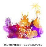 abstract painted splash shape...   Shutterstock . vector #1339269062