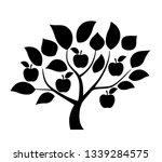 apple tree illustration | Shutterstock .eps vector #1339284575