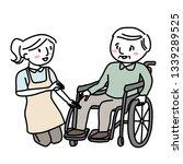 female caregiver with elderly...   Shutterstock .eps vector #1339289525