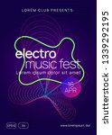 electro event. dynamic gradient ... | Shutterstock .eps vector #1339292195
