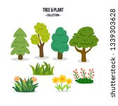 set of flat forest and park...   Shutterstock .eps vector #1339303628