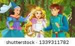cartoon scene with happy young... | Shutterstock . vector #1339311782