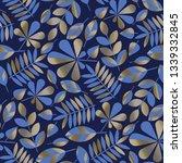 geometric style elegant foliage ... | Shutterstock .eps vector #1339332845