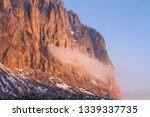 sassolungo during sundown with... | Shutterstock . vector #1339337735