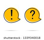 exclamation and question mark... | Shutterstock .eps vector #1339340018