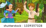 cartoon scene with young prince ... | Shutterstock . vector #1339357328